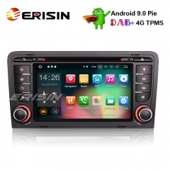 "Autoradio Erisin ES4847A 7"" Android 9.0 GPS DVR DAB + DTV Bluetooth Wifi 4G pour AUDI A3 S3 RS3 RNSE-PU"