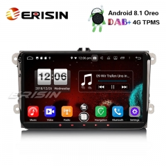 "Erisin ES7691V 9"" Android 8.1 Car Stereo DAB+GPS OPS BT For VW Passat Golf Touran Eos Polo Seat"