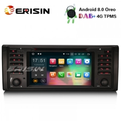 "Erisin ES7839B 7"" Android 8.0 Car Stereo GPS WiFi DAB+DVR OBD SatNav CD BMW 5 Series E39 E53 X5 M5"