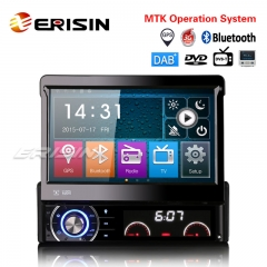 "Erisin ES6590KD 7"" Detachable 1 Din Car Stereo DAB+ CD USB SD GPS Bluetooth RDS DTV DVD Sat Nav"