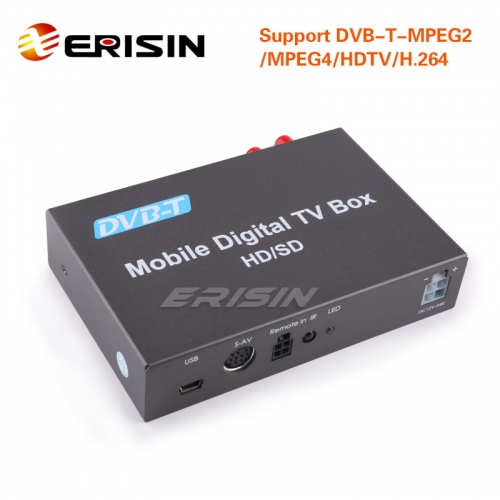 Erisin ES238D Car/Truck Mobile DVB-T-MPEG2/4/H.264/HDTV Digital TV Receiver HDMI USB
