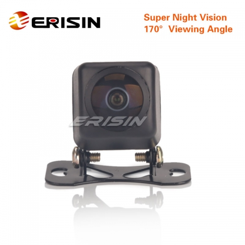 Erisin ES585 Universal HD Fisheye 170°Starlight Night Vision CCD Car Reverse Rear View Camera