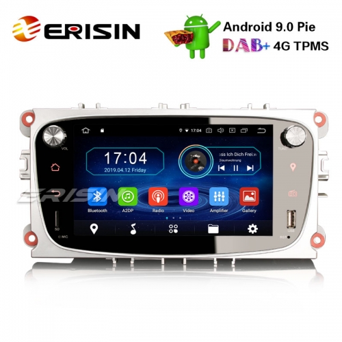 "Erisin ES4909FS 7"" Android 9.0 Lecteur DVD de voiture Ford GPS DAB + Radio 4G OBD Wifi Système TPMS"