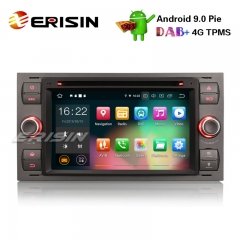 "Erisin ES7966F 7"" Android 9.0 Voiture Stéréo GPS DAB + DVR BT CD FORD C / S-MAX"