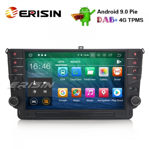 "Erisin ES7911G-64 9"" GPS autoradio Android 9.0 TPMS BT DVR DAB + DTV-IN SatNav pour VW Golf VII / 7"