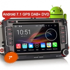 "Erisin ES4798V 7"" Android7.1.2 Car Radio DVD Player GPS Navigation DAB+ 3G Canbus for VW Tiguan Jetta Seat"
