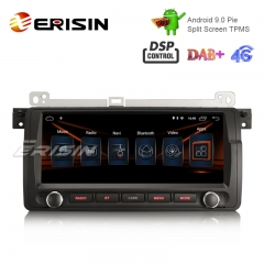 "Erisin ES2906B 8.8"" HD Android 9.0 Car Stereo GPS Sat Nav DAB+ DSP for BMW 3er E46 318 M3 Rover75 MG ZT"