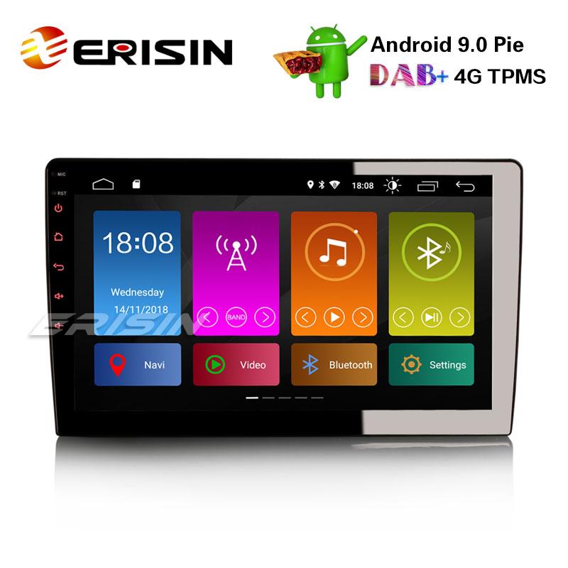 Android 10 Universal Radio st/ér/éo de Voiture Navigation GPS avec Support d/écran Tactile de 6,2 Pouces Miroir-Lien Contr/ôle du Volant WiFi 4G DVR OBD2 Dab