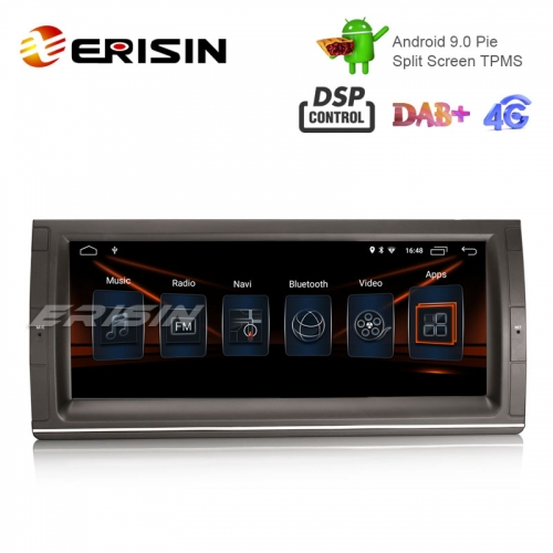 "Erisin ES2903B 10.25"" Android 9.0 Voiture Stéréo GPS Wifi DSP pour BMW 5er E39 E53 X5 M5 Nav GPS TPMS / DAB-IN"