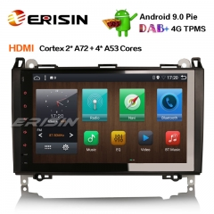 "Erisin ES6292B 9"" PX6 Android 9.0 DAB + Autoradio GPS Navi HDMI pour Mercedes Benz Classe Sprinter Viano VW Crafter"