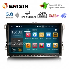 "Erisin ES8028V 9 ""DAB + Android 9.0 voiture GPS IPS DSP BT5.0 pour VW Passat Golf 5/6 Polo Tiguan Eos Caddy Seat"