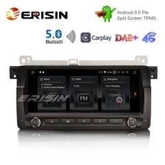 "Erisin ES1889B 8.8 ""Android 9.0 Pie OS Car TPMS 4G GPS DAB + BT5.0 Carplay pour E46"