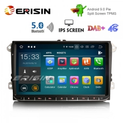 "Erisin ES8028V 9"" DAB + Android 9.0 voiture GPS IPS BT5.0 pour VW Passat Golf 5/6 Polo Tiguan Eos Caddy Seat"
