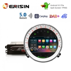 "Erisin ES1118M 7"" DAB+ Android 9.0 Car Stereo GPS BT5.0 CarPlay Wifi OBD TPMS for BMW Mini Cooper"