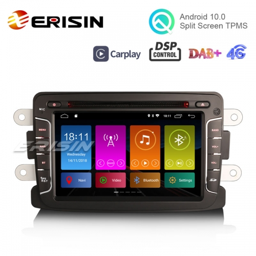 "Erisin ES3029D 7"" DAB + Android 10.0 Autoradio GPS CarPlay DSP pour Renault Dacia Duster Sandero Dokker Lodgy"