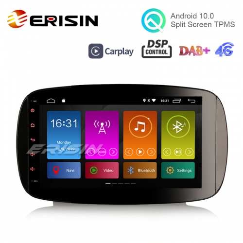 "Erisin ES3099S 9"" DAB + Android 10.0 Radio stéréo de voiture GPS OBD Sat Nav DSP CarPlay pour Mercedes-Benz Smart"