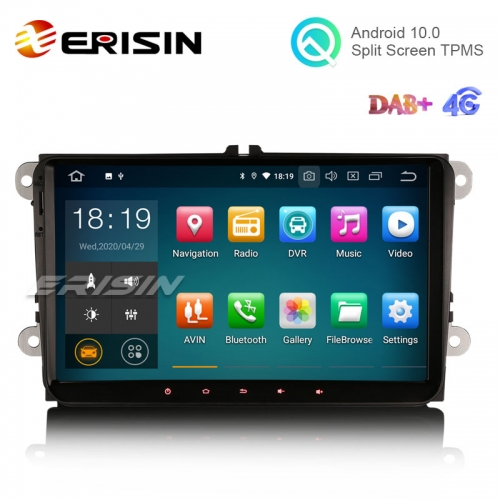 "Erisin ES5118V 9"" Android 10.0 Car Radio GPS System 4G DAB+ Carplay+ for VW Skoda Seat"