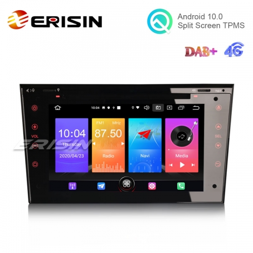 "Erisin ES2773P 7"" Android 10.0 Car DVD Radio GPS Sat Nav DAB+ 4G TPMS CarPlay+ OBD for Opel"