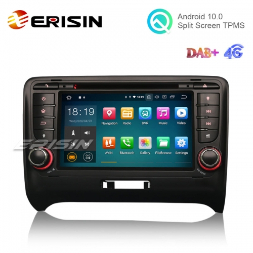"Erisin ES5179A 7"" Android 10.0 Car DVD 4G Radio OBD GPS DAB+ CarPlay+ for AUDI TT MK2"