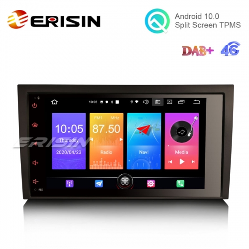 "Erisin ES2778A 8"" Android 10.0 Car Stereo GPS Carplay+ DAB+ 4G for Audi A4 S4 SEAT EXEO"