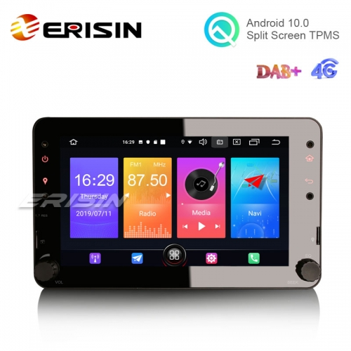 "Erisin ES2720R 7"" HD 4-core Android 10.0 Auto Multimedia System GPS WiFi Radio 4G CarPlay for Alfa Romeo 159"