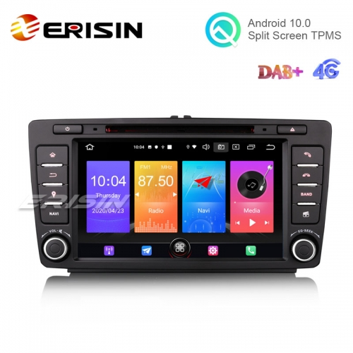"Erisin ES2726S 8"" Android 10.0 Car DVD Player 4G GPS DAB CarPlay for Skoda Superb Octavia"