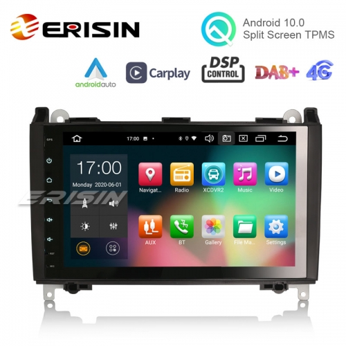 "Erisin ES8101B 9 ""PX5 Android 10.0 système multimédia voiture CarPlay & Auto GPS TPMS DAB DSP pour Benz Sprinter Viano Vito"