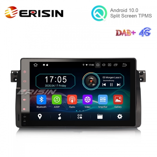 "Erisin ES5996B 9"" Android 10.0 Car Stereo 2G 16G DAB+ CarPlay+ for BMW E46 M3 Rover 75 Multimedia GPS"