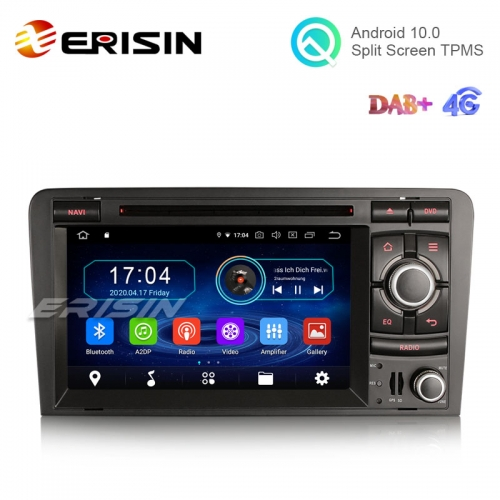"Erisin ES6973A 7"" 8-Core Android 10.0 Car DVD for Audi A3 S3 RS3 Stereo GPS 64G wifi BT Nav"