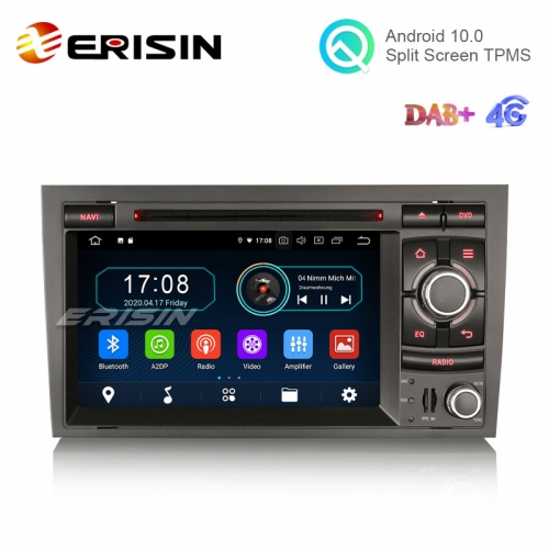 "Erisin ES6974A 7"" Octa-Core Android 10.0 Car Multimedia with GPS for Audi A4 S4 RS4 RNS-E Radio WiFi BT TPMS DVR DTV DVD CD"