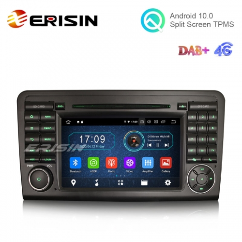 "Erisin ES6961L 7"" Octa-Core Android 10.0 Car DVD GPS Radio WiFi BT TPMS DVR RDS for Benz ML-Class W164 GL-Class X164"