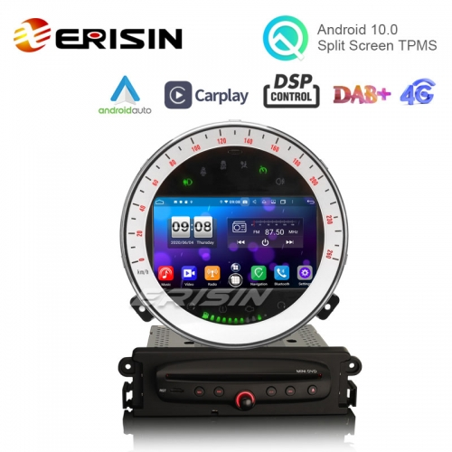 "Erisin ES8711M 7"" 64G Android 10.0 Car DVD GPS for BMW Mini Cooper CarPlay Android Auto DSP DAB+ RDS OBD2"
