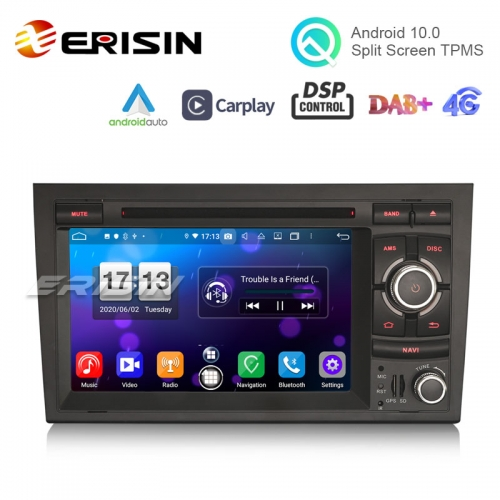 "Erisin ES8738A 7"" DSP Android 10.0 Car DVD CarPlay & Auto GPS 4G DAB+ for Audi A4 S4 RS4 Seat Exeo"