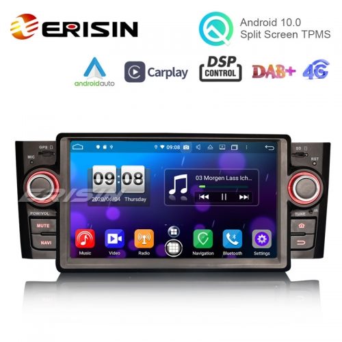 "Erisin ES8723L 7"" Android 10.0 Car Stereo CarPlay & Auto GPS 4G DAB+ DSP for Fiat Punto Linea"