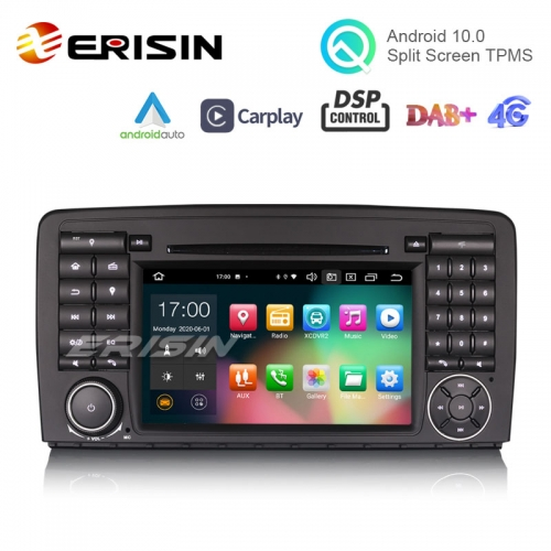 "Erisin ES8181R 7"" Android 10.0 Car DVD for Mercedes Benz R-Class W251 CarPlay & Auto GPS DAB+ DSP OBD Mulitmedia"
