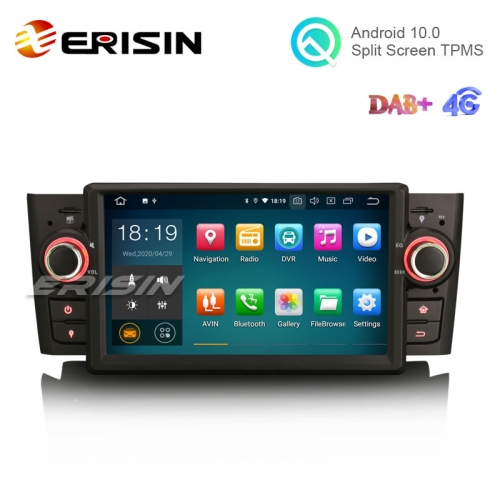 "Erisin ES5123L 7"" Android 10.0 Autoradio Car GPS Navigation 4G DAB+ for Fiat Punto Linea"
