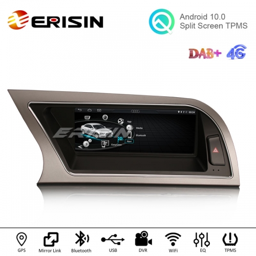 "Erisin ES2614A 8.8"" IPS Screen Android 10.0 Car Radio GPS Sat for Audi A4 2013-2016 DAB+ Carplay+"