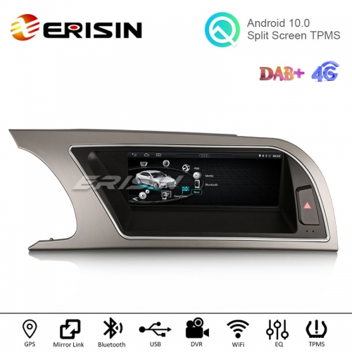 "Erisin ES2615A 8.8"" Android 10.0 Car GPS IPS OEM Radio CD Player CarPlay+ DAB+ OBD2 for Audi A5 2009-2016"