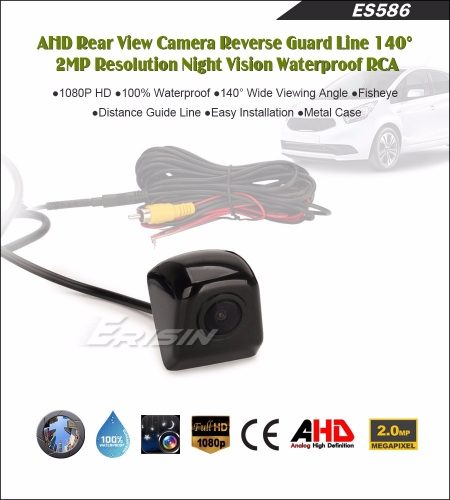 Erisin ES586 AHD 1080P 140 Guide Line Car Rear View camera